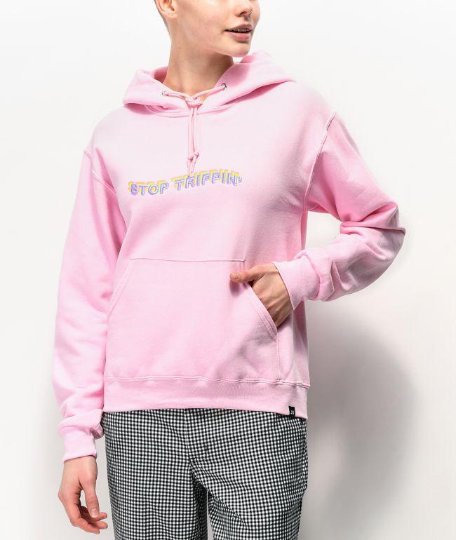 JV by Jac Vanek Stop Trippin Pink Hoodie