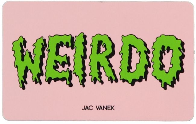 JV by Jac Vanek Weirdo pegatina