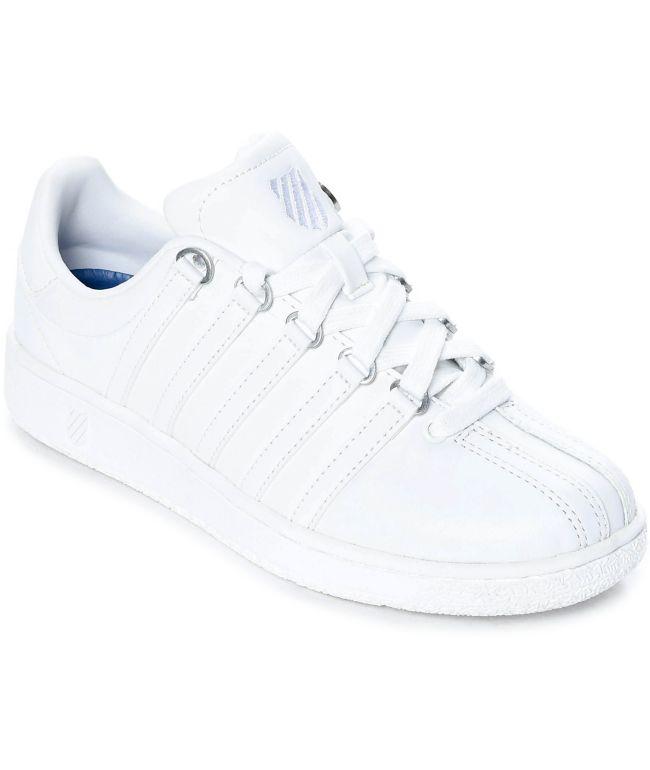 K-Swiss Classic VN All White Shoes | Zumiez