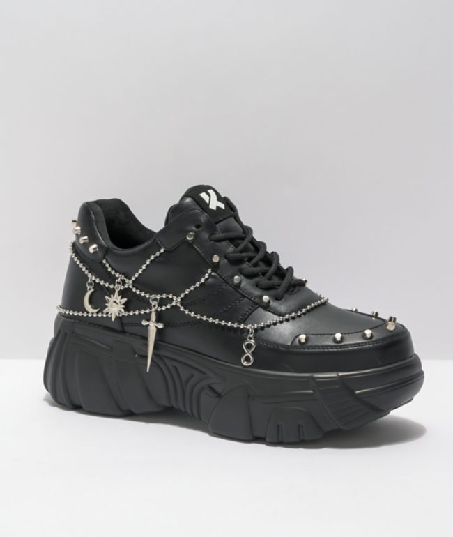 KOI Jinx Mystic Charm Black Platform Shoes