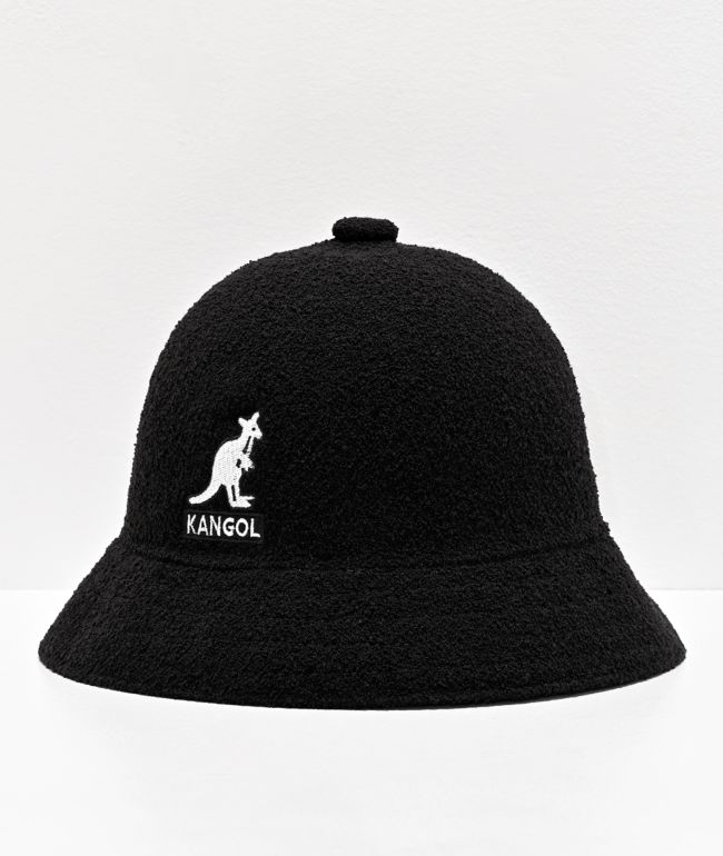 Kangol Big Logo Black Bucket Hat