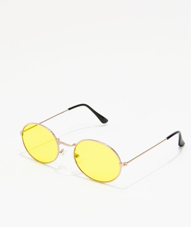 Kid gafas de sol redondas amarillas