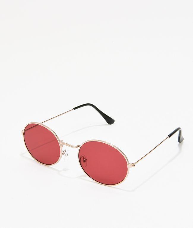 Kid gafas de sol redondas y rojas