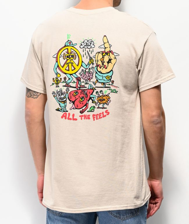 Killer Acid All The Feels Cream T-Shirt