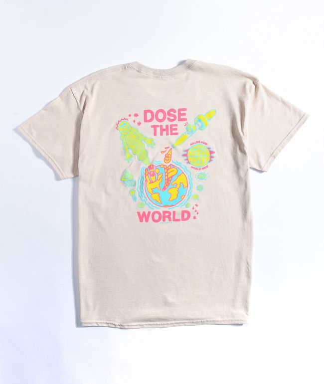 Killer Acid Dose The World Cream T-Shirt