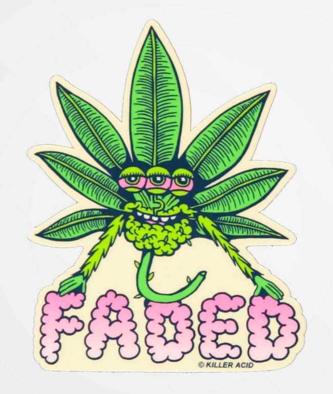 Killer Acid Faded Sticker