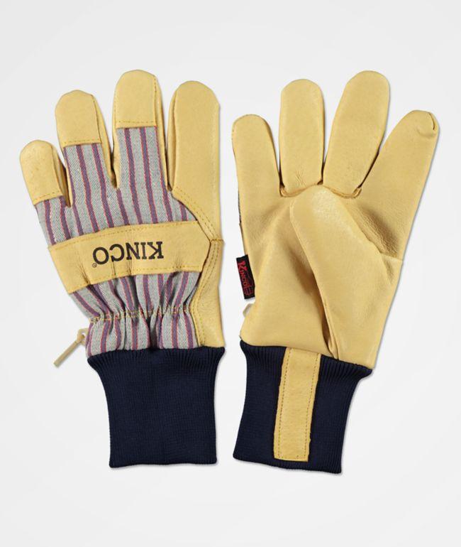 Kinco guantes de snowboard de rayas de primera calidad