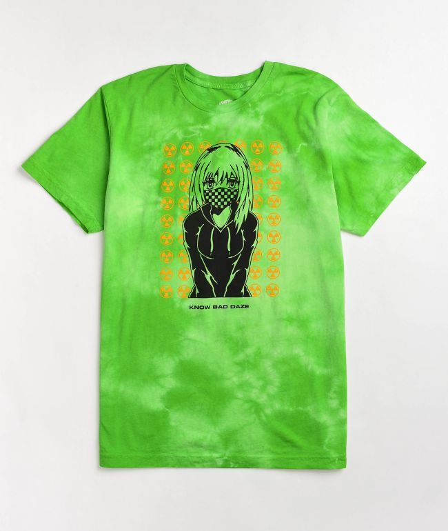 Know Bad Daze Toxic Green Tie Dye T-Shirt
