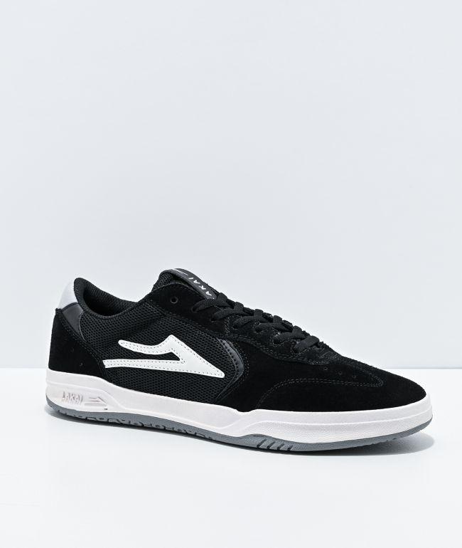 Lakai Atlantic Black & Light Grey Suede Skate Shoes