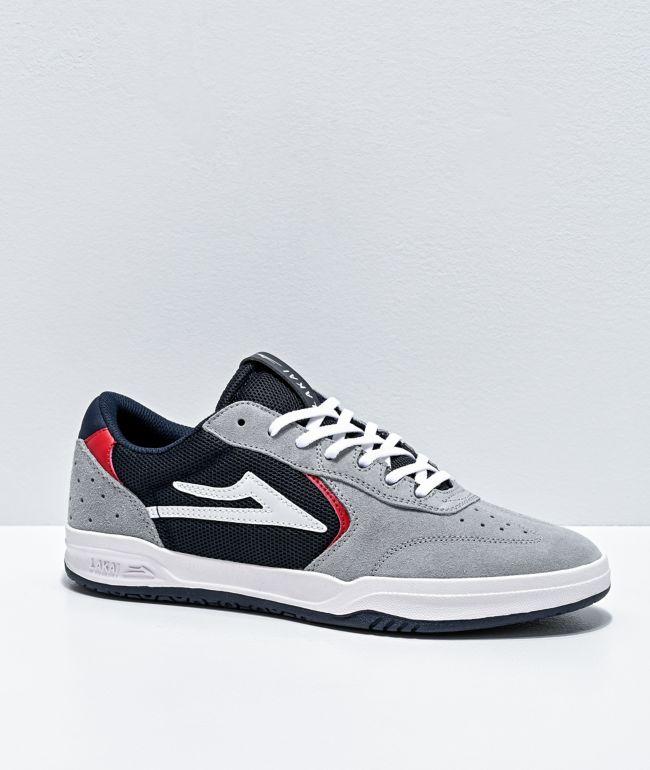 Lakai Atlantic Grey & Navy Suede Skate Shoes
