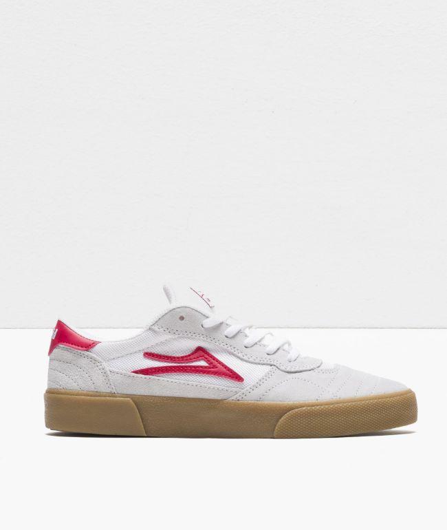 Lakai Cambridge Red, White & Gum Skate Shoes