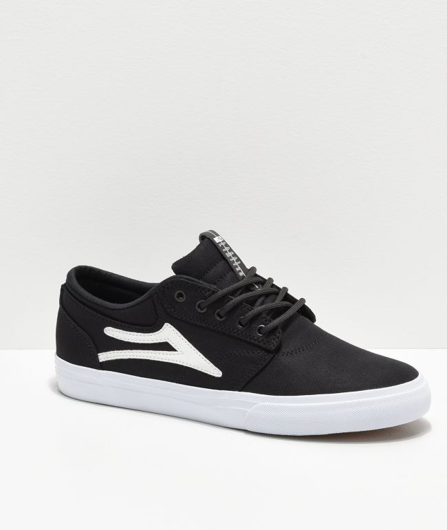Lakai Griffin Black Textile Skate Shoes