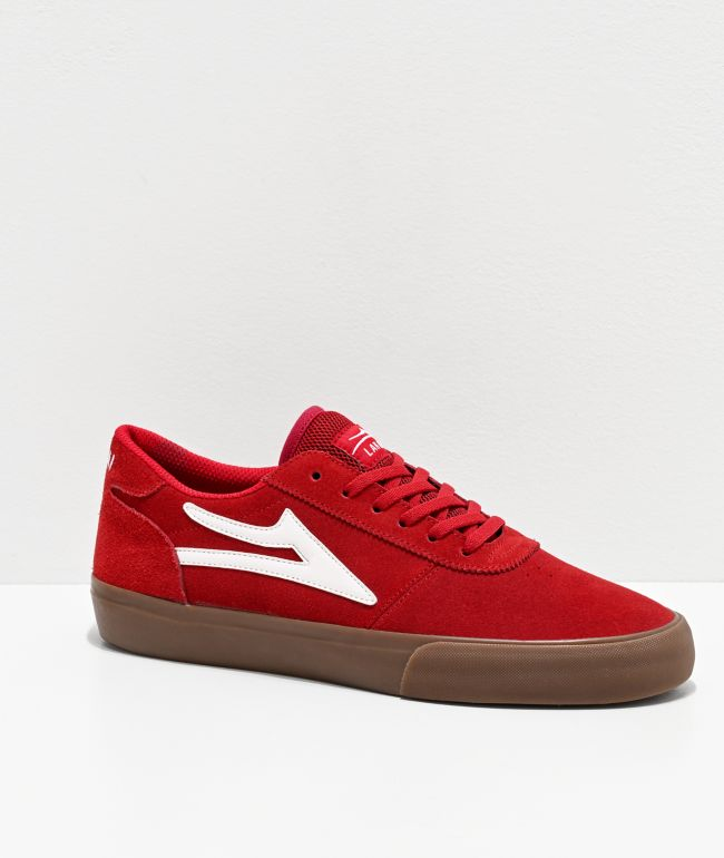 Lakai Manchester Red \u0026 Gum Suede Skate