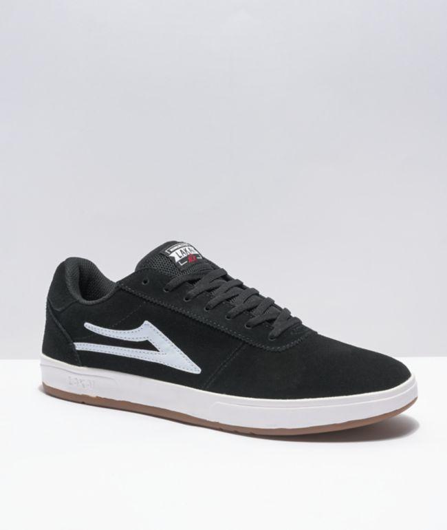 Lakai Manchester XLK Black & White Suede Skate Shoes