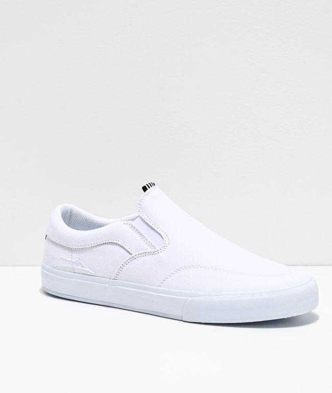 Lakai Owen VLK White Slip-On Skate