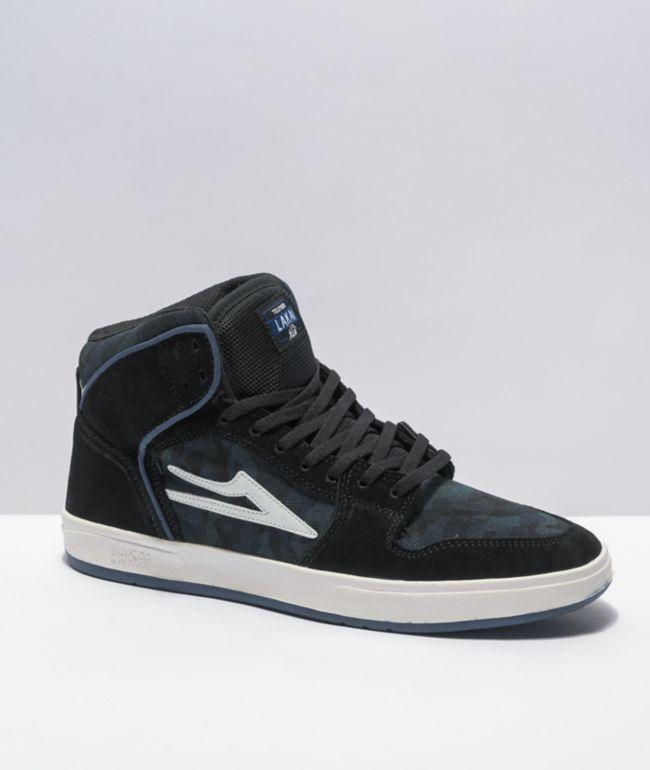 Lakai Telford Black, Blue, & Camp Suede Skate Shoes