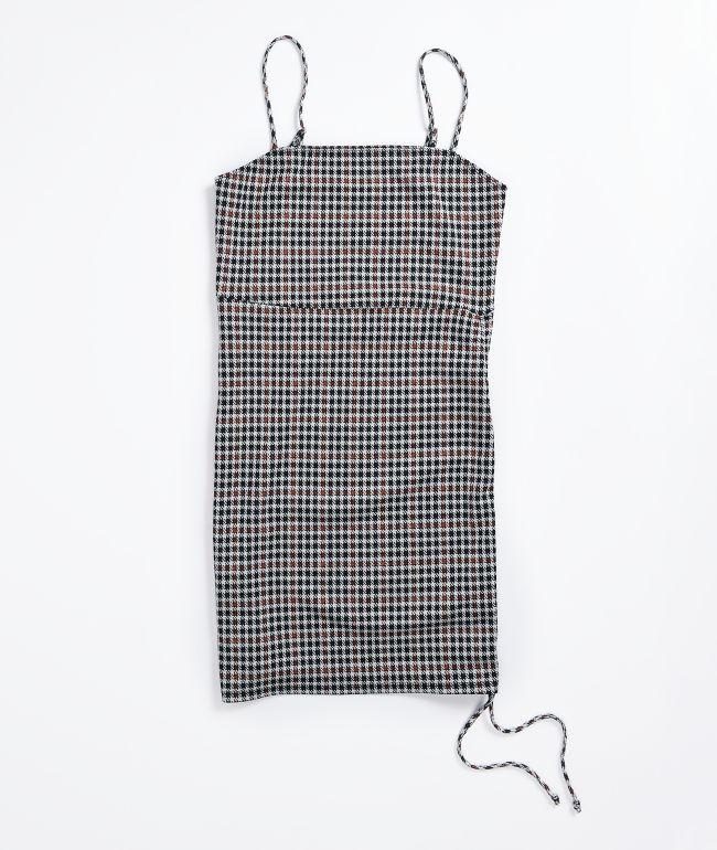 Lunachix Black & White Houndstooth Mini Dress