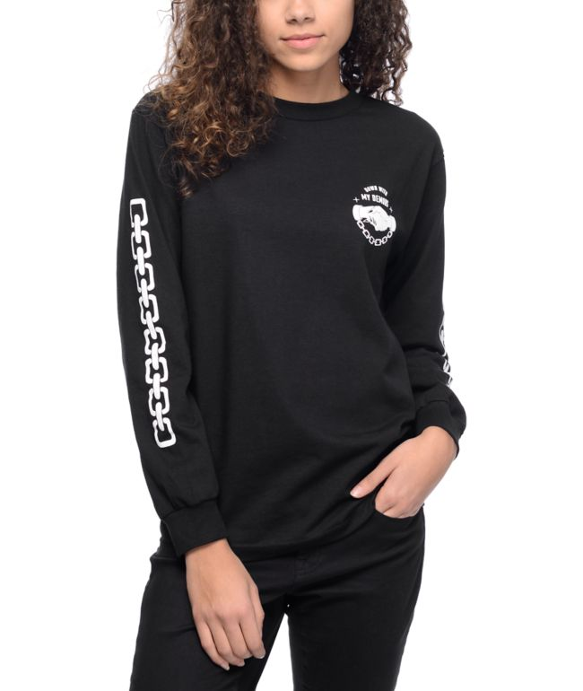 Lurking Class By Sketchy Tank Down With My Demons Black Long Sleeve T-Shirt