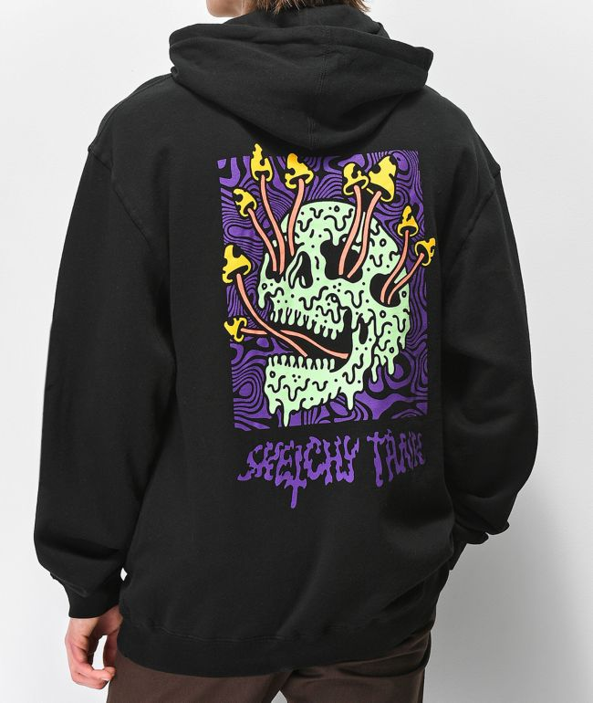 Lurking Class By Sketchy Tank Fungus Color sudadera con capucha negra