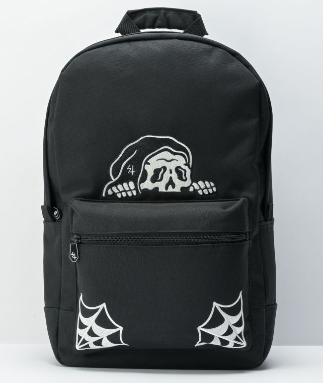 Lurking Class by Sketchy Tank Lurker Web Black Backpack