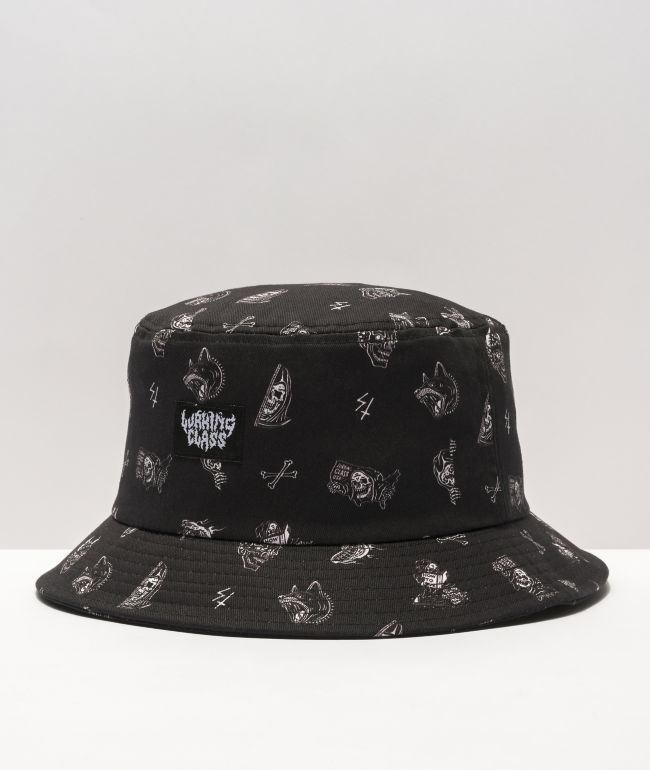 Lurking Class by Sketchy Tank Mixed Black Bucket Hat
