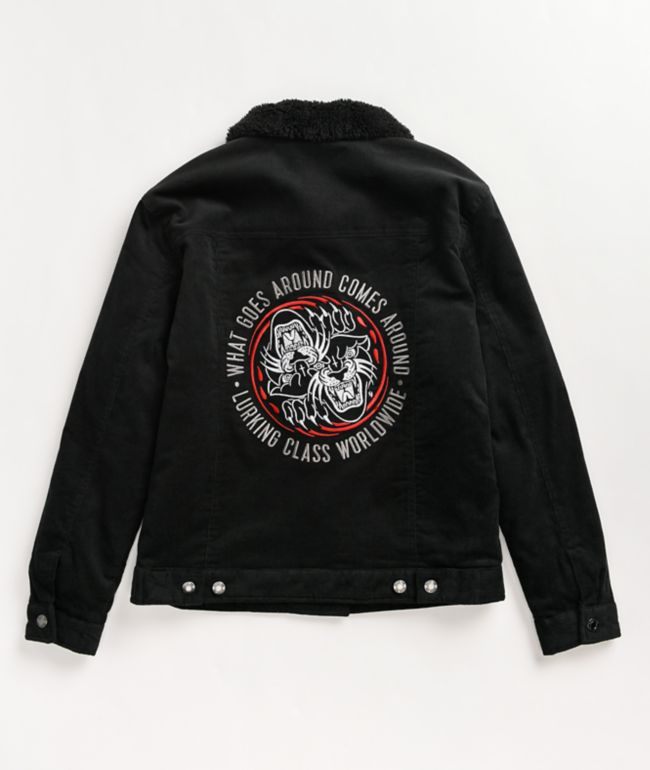 Lurking Class by Sketchy Tank Scratch Black Sherpa Corduroy Jacket