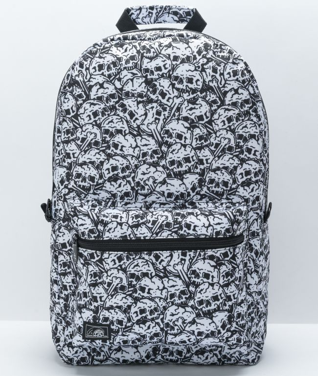 Lurking Class by Sketchy Tank Skulls Black & White Backpack