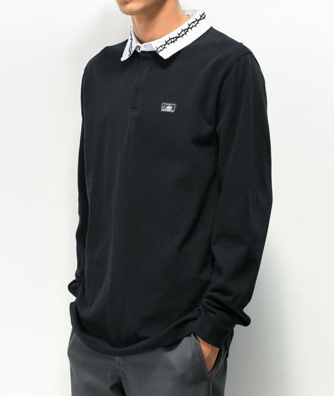 Lurking Class by Sketchy Tank Thorns Black Long Sleeve Polo Shirt