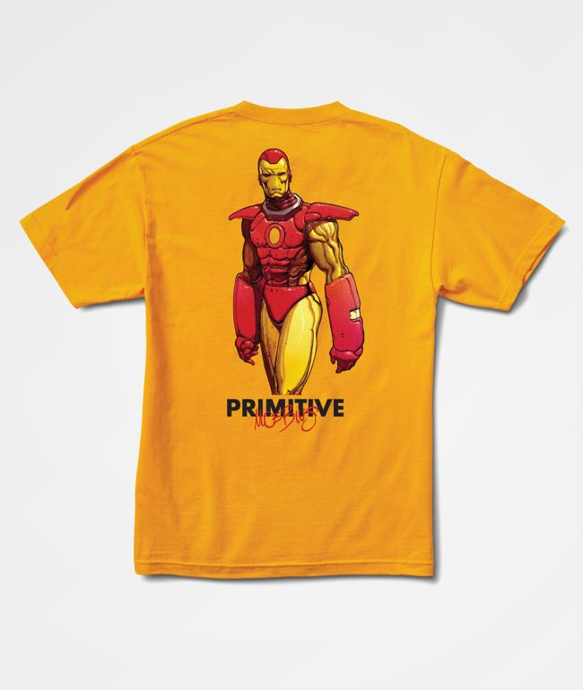 Marvel x Moebius by Primitive Iron Man Gold T-Shirt