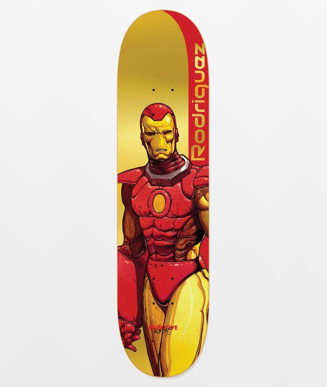 "Marvel x Moebius by Primitive PRod Iron Man 8.12"" Skateboard Deck"