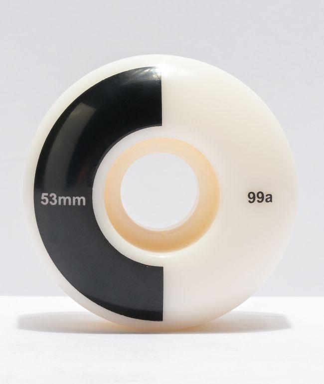 Mercer 53mm 99a Black & White Skateboard Wheels