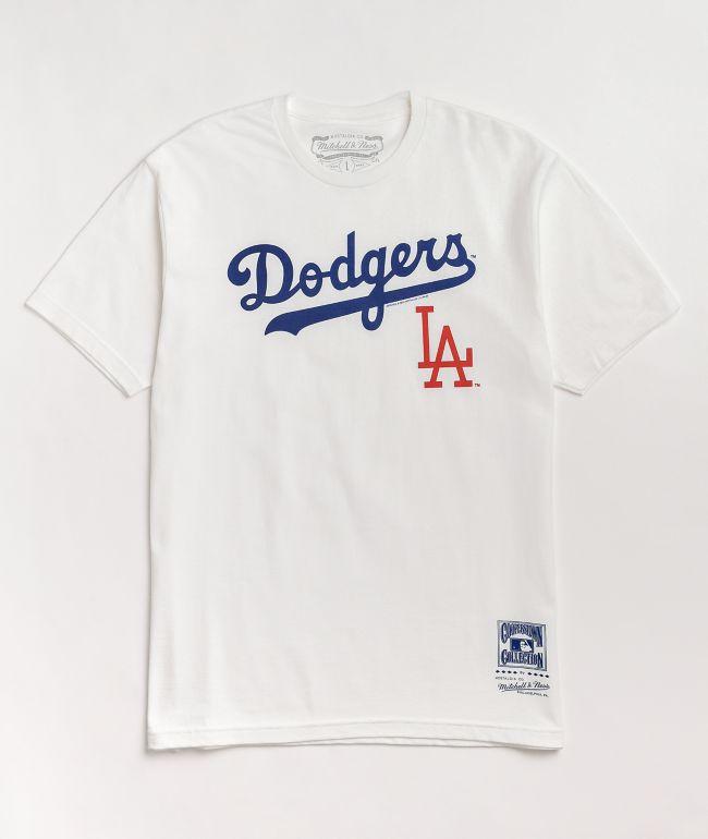 Mitchell & Ness LA Dodgers White T-Shirt