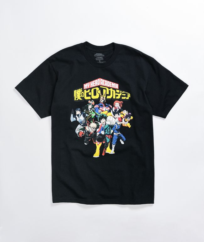 My Hero Academia Squad Black T-Shirt