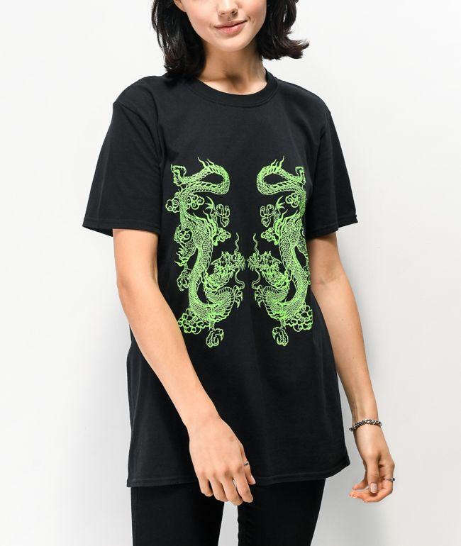 NEW girl ORDER Double Dragon Black T-Shirt