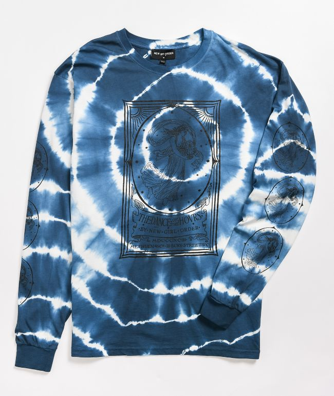 NEW girl ORDER Opera Lady Navy Tie-Dye Long Sleeve T-Shirt