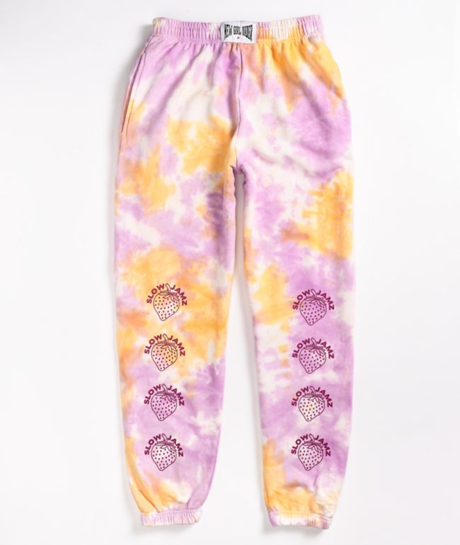NEW girl ORDER Strawberry Tie Dye Sweatpants