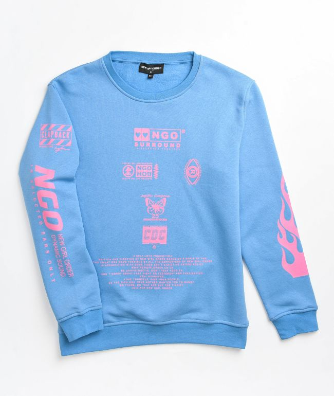 NGOrder Flame Blue Crewneck Sweatshirt