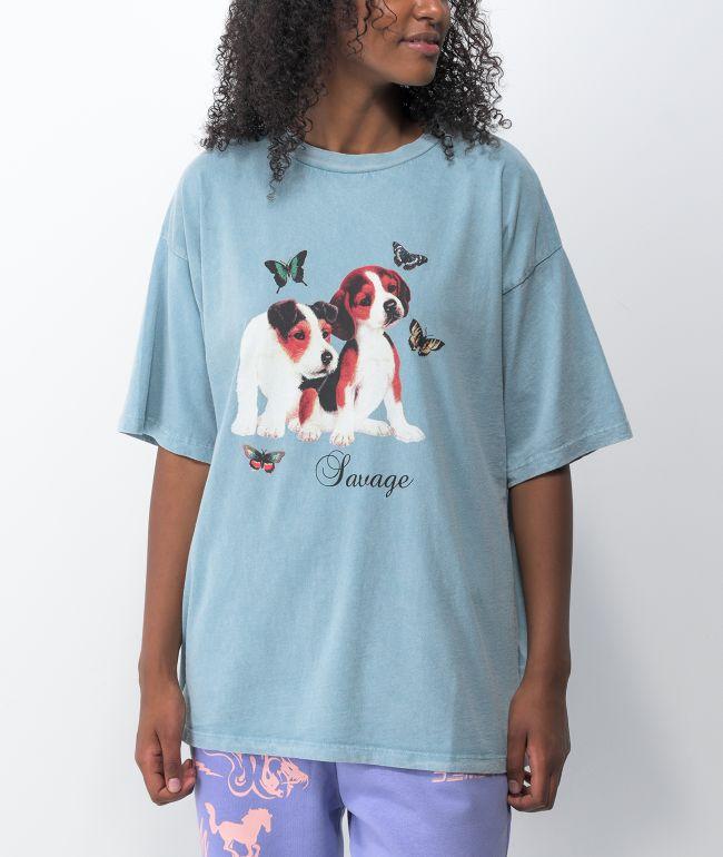 NGOrder Savage Puppy Blue Acid Wash T-Shirt