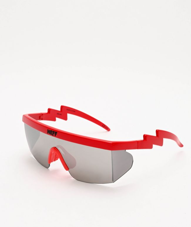 Neff Brodie Single Lens Red Sunglasses
