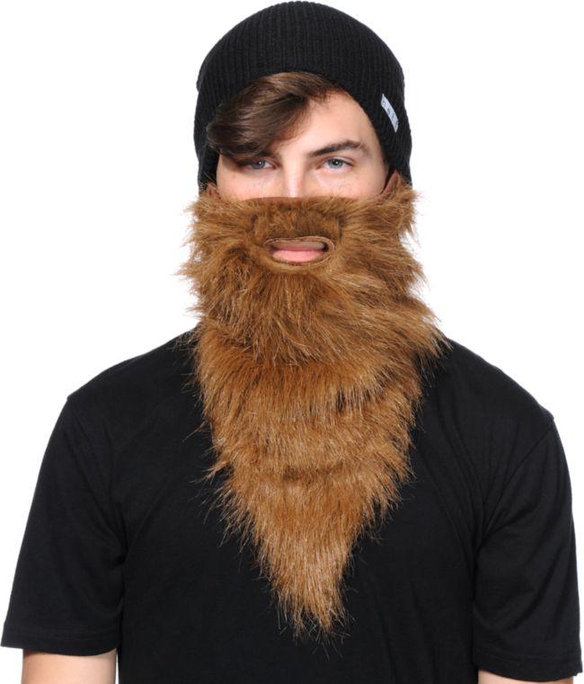 $43 Neff Bearded Face Mask NWT Ski Snowboard Velcro Closure O//S Adult Unisex