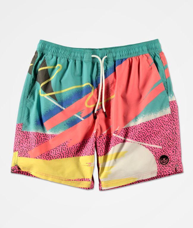 Neff Chazz Jacuzzi Jammer Multicolor Board Shorts