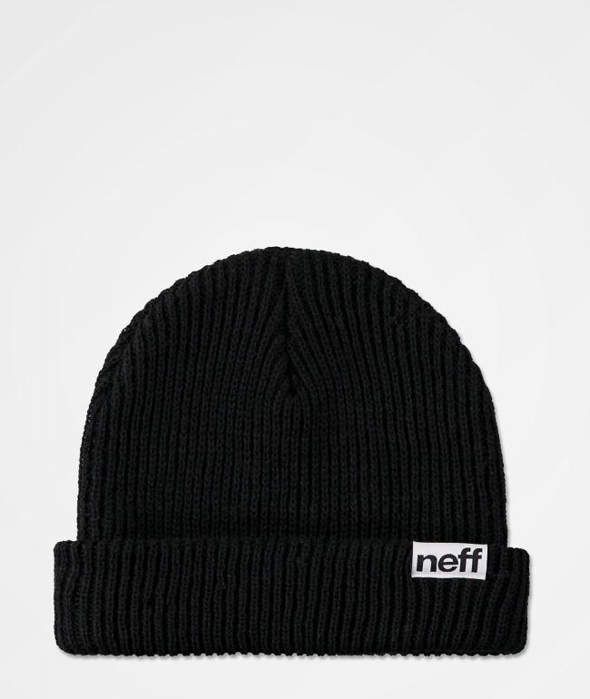 Neff Cuff Black Beanie