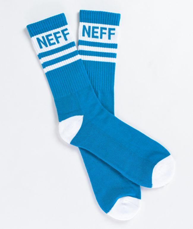 Neff Promo calcetines en verde azulado y blanco