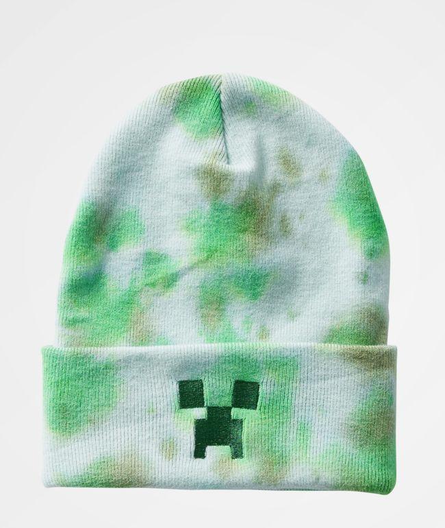 Neff x Minecraft gorra con tinte de corbata verde