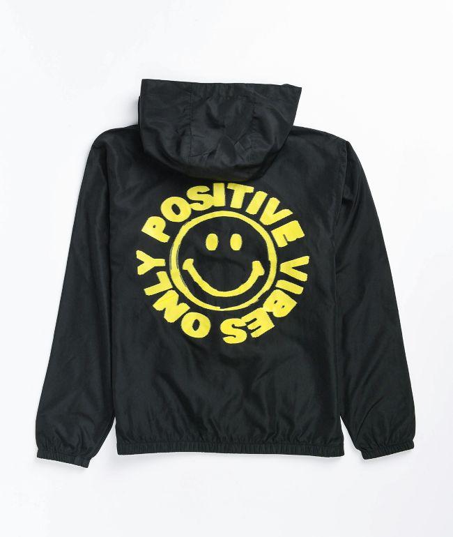Neon Riot x Smiley Boys Black Windbreaker Jacket