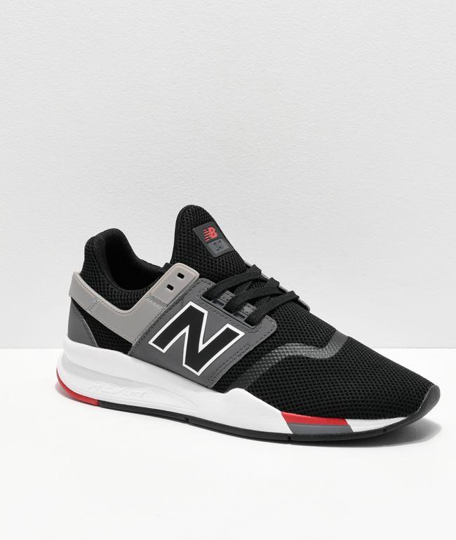 empujoncito Proporcional toque  New Balance Lifestyle 247 V2 Black, Grey & White Shoes | Zumiez