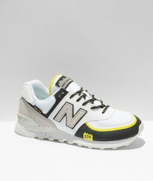 New Balance Lifestyle 574 T White & Black Shoes