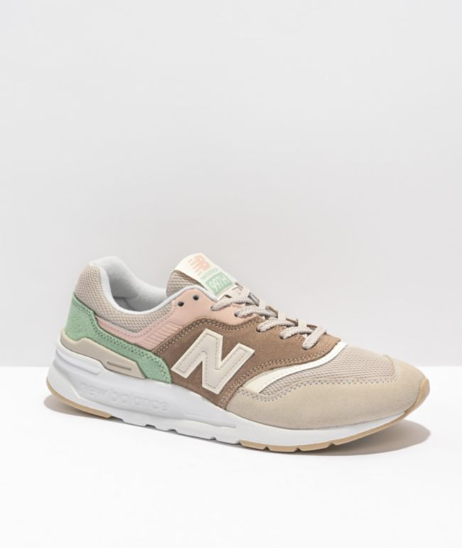 New Balance Lifestyle 997 Tan & Pink Shoes