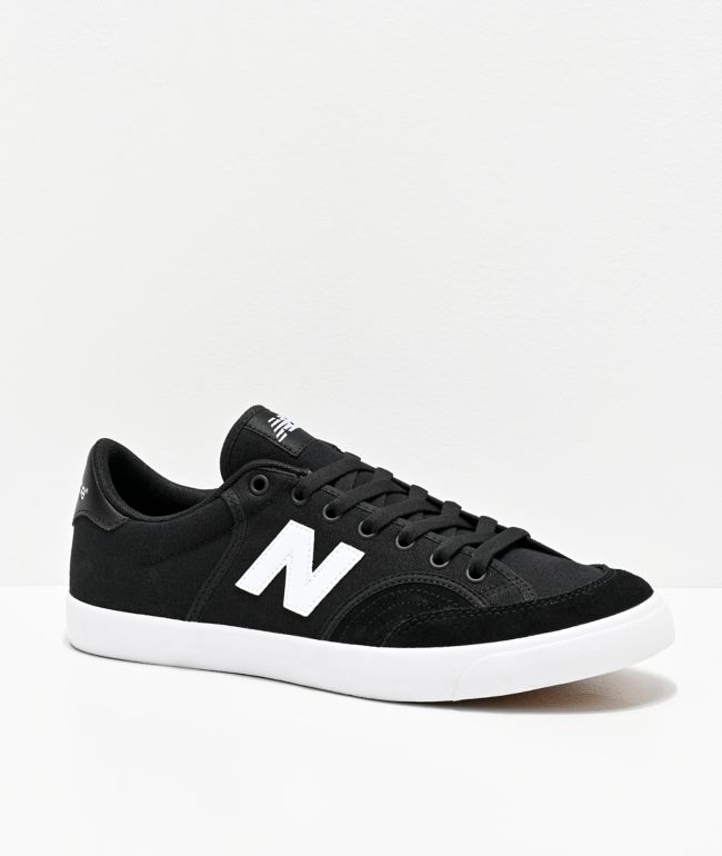 New Balance Numeric 212 Black & White Skate Shoes   Zumiez