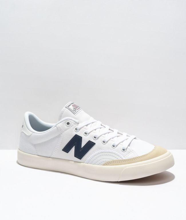 New Balance Numeric 212 White & Navy Skate Shoes